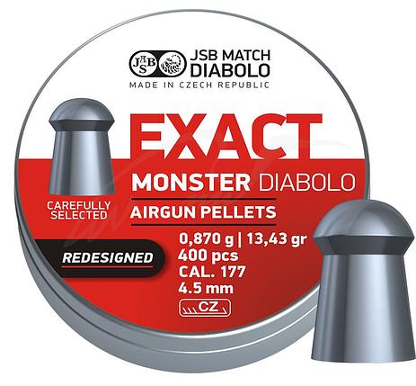 Пули пневм JSB Monster Redesigned 4,52 мм 0,87 гр. (400 шт/уп), фото 2