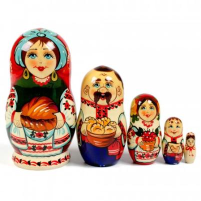 Матрешка Украинская семья