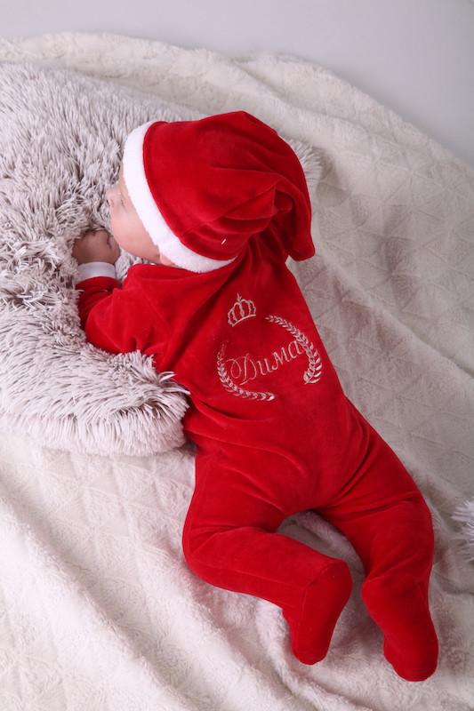Нарядный новогодний именной человечек для новорожденных