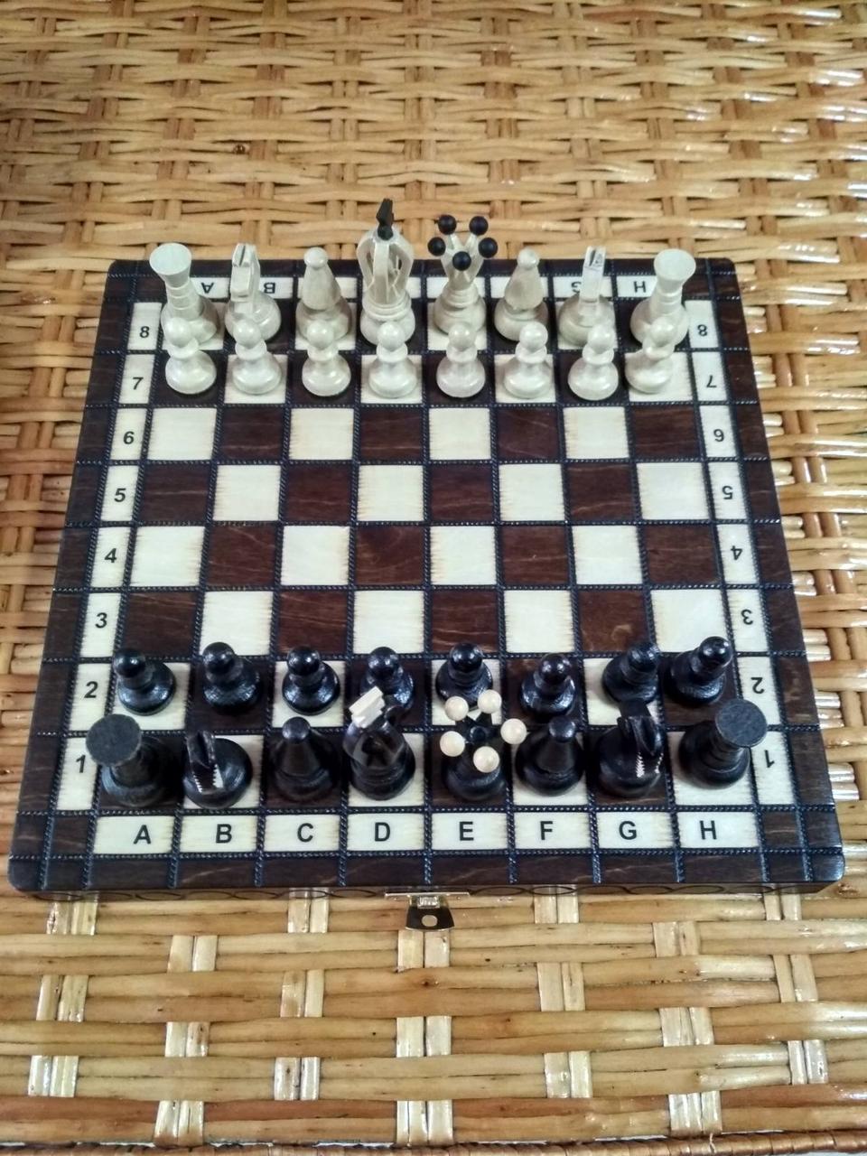Гарний подарунковий набір шахи 28 см*28 см