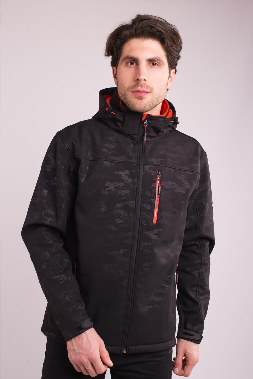 Вітровка толстовка куртка чоловіча чорна Softshell Avecs 70396/1 Розміри 2XL/56