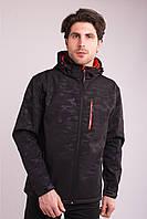 Вітровка толстовка куртка чоловіча чорна Softshell Avecs 70396/1 Розміри 2XL/56, фото 1
