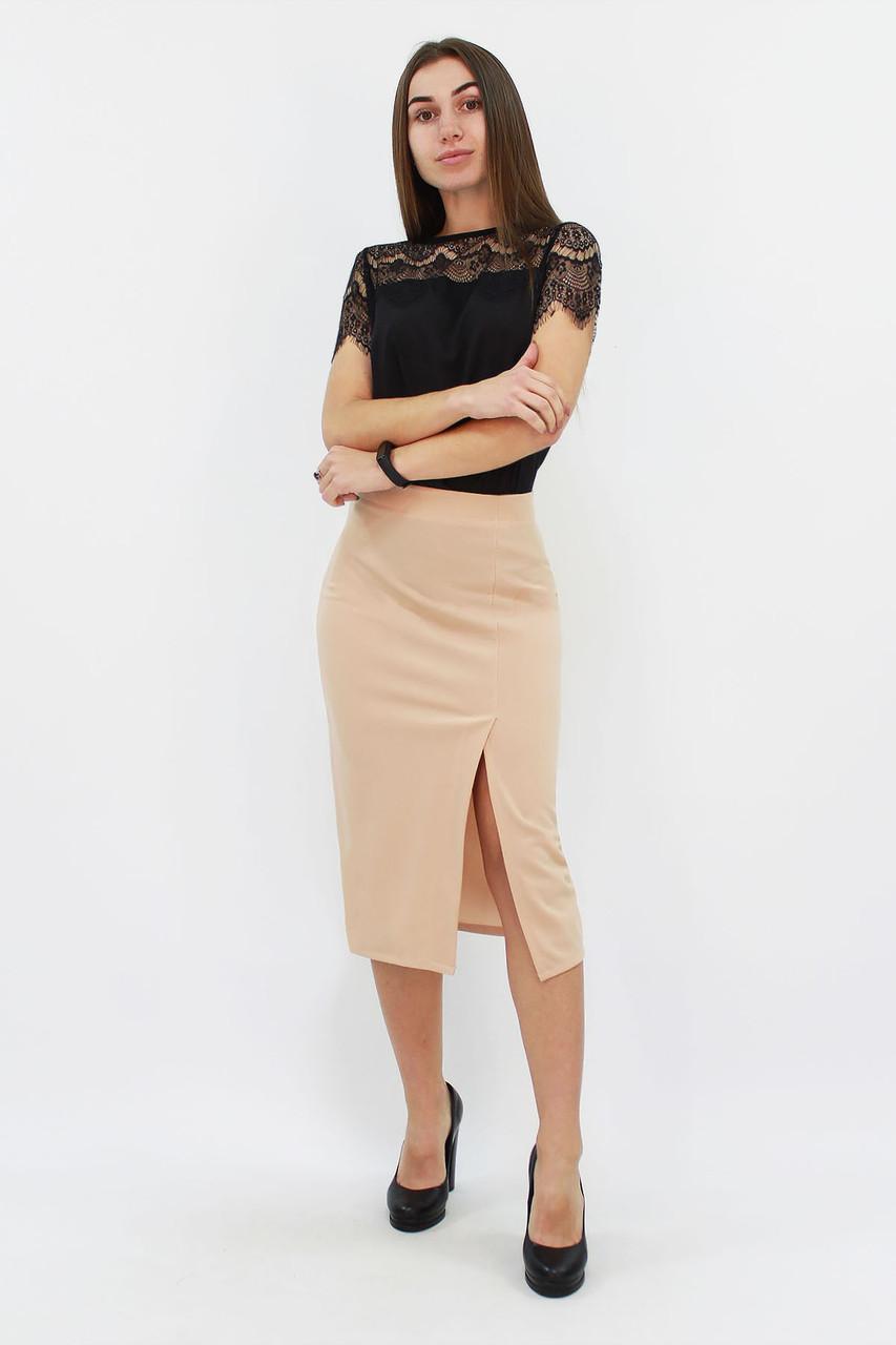 Женская юбка-карандаш Hizer, бежевый