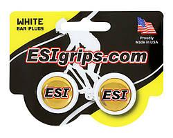 Заглушки руля ESI Bar Plug White, белые