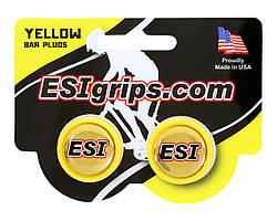 Заглушки руля ESI Bar Plug Yellow, желтые