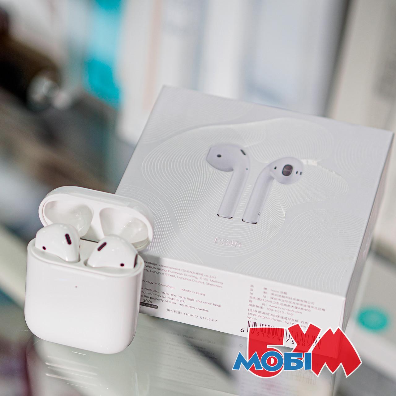 Гарнитура bluetooth Hoco ES49 Оригинал Вкладыши Bluetooth Прямой Белый