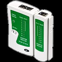 Тестер кабельний для RJ45 і RJ12 LogicPower LP-468N (батарея в комплекті)