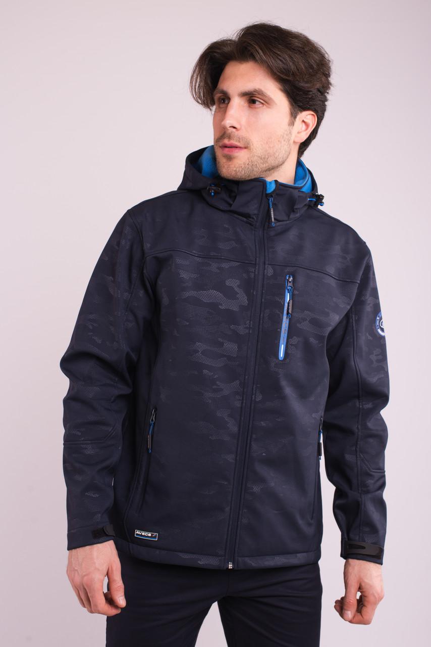 Ветровка толстовка куртка мужская синяя Softshell Avecs 70396/23 Размеры S M L XL 2XL