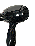 Профессиональный фен с 2 насадками и 3 режимами нагрева  Gemei GM 103 Черный, фото 5