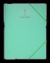 Папка на резинках А4 FAVOURITE, PASTEL пластиковая мятная
