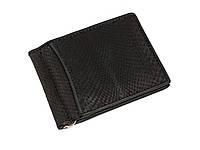 Зажим для денег из кожи питона Ekzotic Leather Черный (snc01_4), фото 1