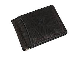 Затиск для грошей зі шкіри пітона Ekzotic Leather Чорний (snc01_4)
