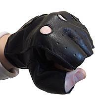 Рукавички без пальців для водіїв з овечої шкіри