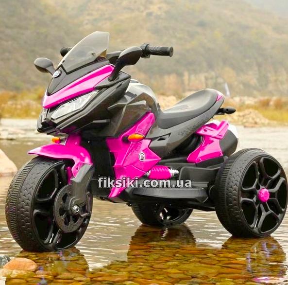 Детский трехколесный электро мотоцикл от 3 до 6 лет BMW M 4274 розовый