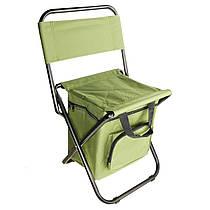 Складаний стілець для риболовлі, пікніка, кемпінгу, відпочинку на природі з термосумкою