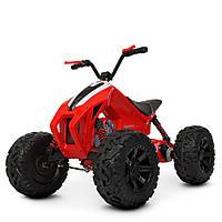 Детский квадроцикл Bambi с двумя моторами,1аккум12V10AH, EVA, кожа, до 25 кг,СКОРОСТЬкм/ч3,8км/ч  КРАСНЫЙ