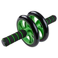 Ролик для преса 16,5 см з неопреновыми ручками Зелений