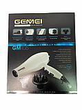 Профессиональный фен с 2 насадками и 3 температурными режимами Geemy GM 105 Белый, фото 6