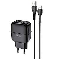 Мережевий зарядний пристрій HOCO C77A + кабель micro