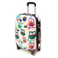 Малый чемодан с ярким рисунком Worldline 808 Hibou, фото 1