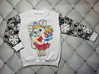 Кофта новогодняя девочке р. 98, утепленная Снегурочка, фото 1