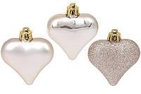 Елочные украшения Сердечки, набор 6 шт, фото 1