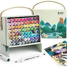 Спиртовые маркеры Arrtx Alp 80 цветов