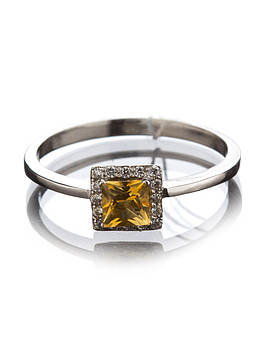 Кольцо золотое с цитрином