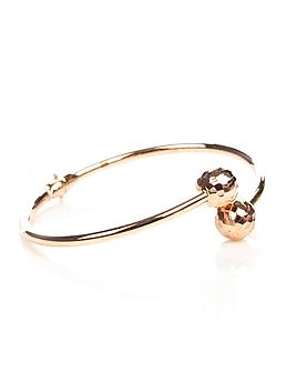 Браслет из золота с алмазными шариками
