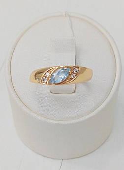 Кольцо золотое с топазом