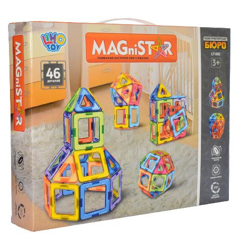 Магнитный конструктор LT1002 MAGniSTAR Фигуры 46 деталей