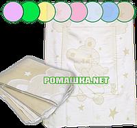 Байковый хлопковый флисовый мягкий детский плед одеяло с начёсом флисом 100х140 для новорожденных 100% хлопок