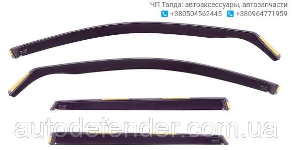Дефлекторы окон (вставные!) ветровики Renault Megane II 2002-2008 5D 4шт. Combi, HEKO, 27157