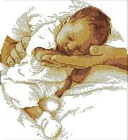 Набор для вышивания крестом 29х32 Младенец Joy Sunday R361, фото 1