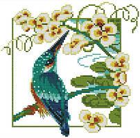 Набор для вышивания крестом 26х26 Яркая птичка Joy Sunday DA319