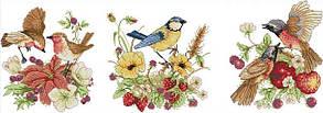 Набор для вышивания крестом 71х29 Птички и ягоды Joy Sunday DA443
