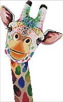 Набір для вишивання хрестом 28х41 Жираф Joy Sunday DA082, фото 1