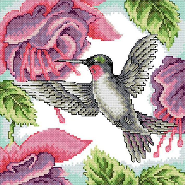 Набор для вышивания крестом 35х35 Колибри Joy Sunday DA225