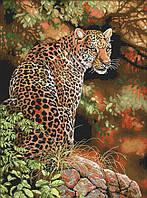 Набір для вишивання хрестом 38х49 Леопард Joy Sunday D773, фото 1