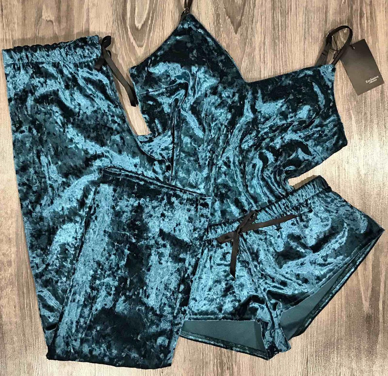 Комплект жіночий велюр, майка-штани-шорти.