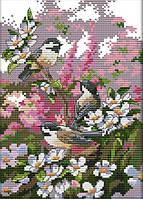 Набор для вышивания крестом 19х28 Три маленькие птички Joy Sunday D514