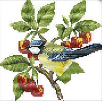 Набор для вышивания крестом 22х21 Птичка и вишни Joy Sunday D520