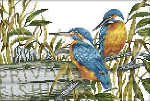 Набор для вышивания крестом 36х27 Две птички Joy Sunday D215
