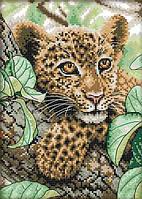 Набір для вишивання хрестом 21х30 Леопард Joy Sunday DA115, фото 1