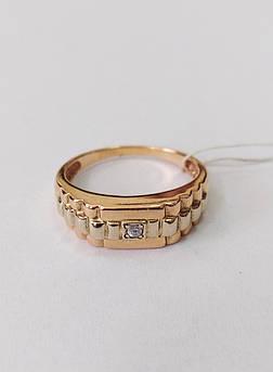 Кольцо мужское золотое