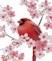 Набор для вышивания крестом 31х35 Красная птичка Joy Sunday DA321