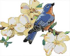 Набор для вышивания крестом 27х21 Синяя птичка Joy Sunday D525