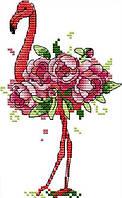 Набор для вышивания крестом 14х20 Розовый фламинго Joy Sunday DA399