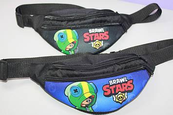 Бананка сумка Бравл Старс  на пояс через плечо барыжка принт 1 шт