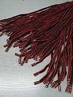 Шнур (текстильный) №2 красночерный с красным наконечником 125см.